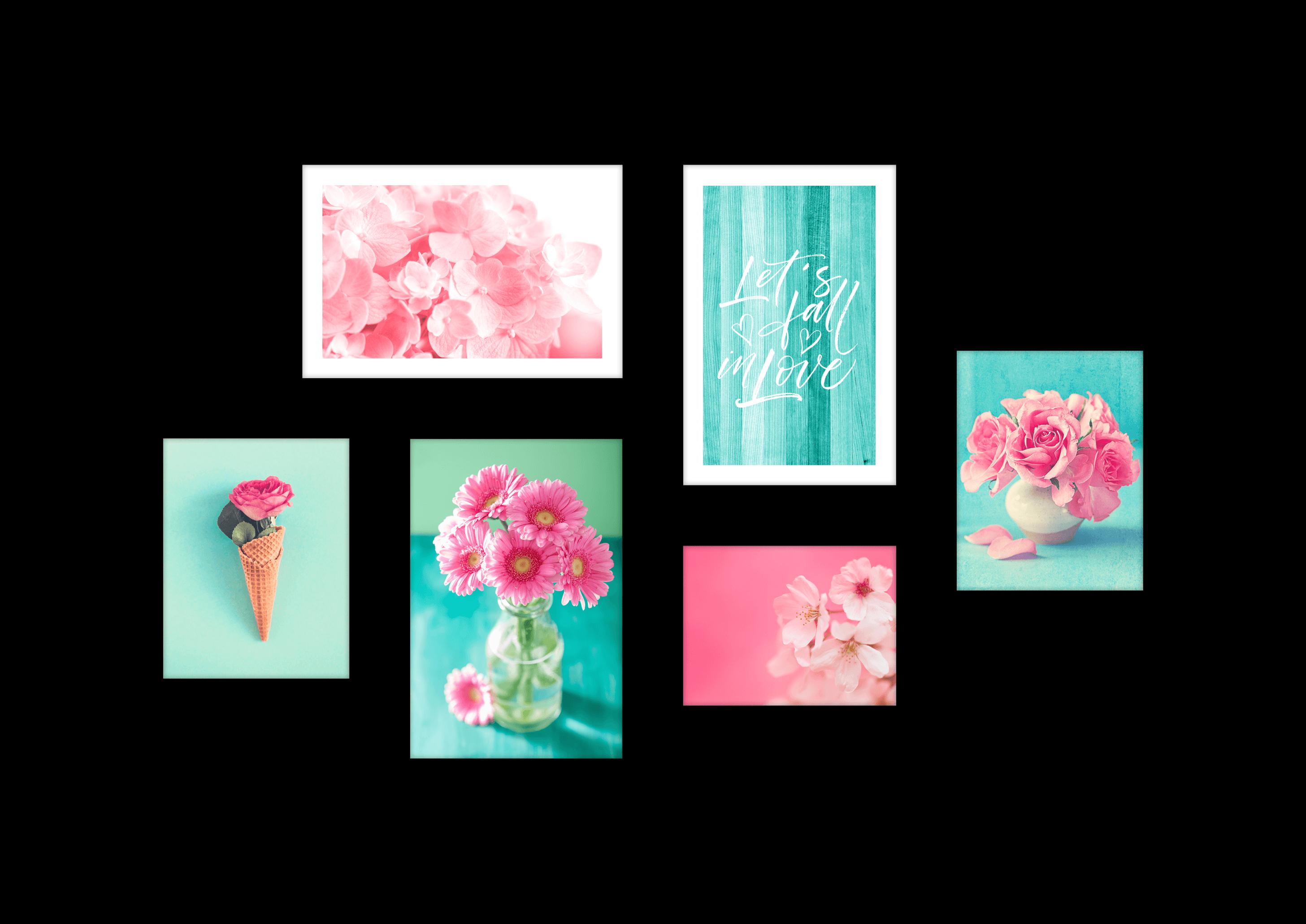 Tranh bộ canvas Pink Blue