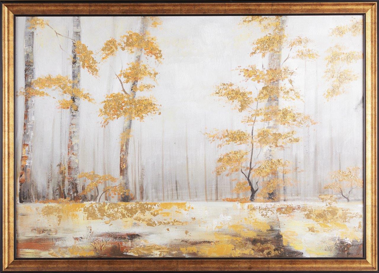 Tranh sơn dầu dát vàng Autumn Forest