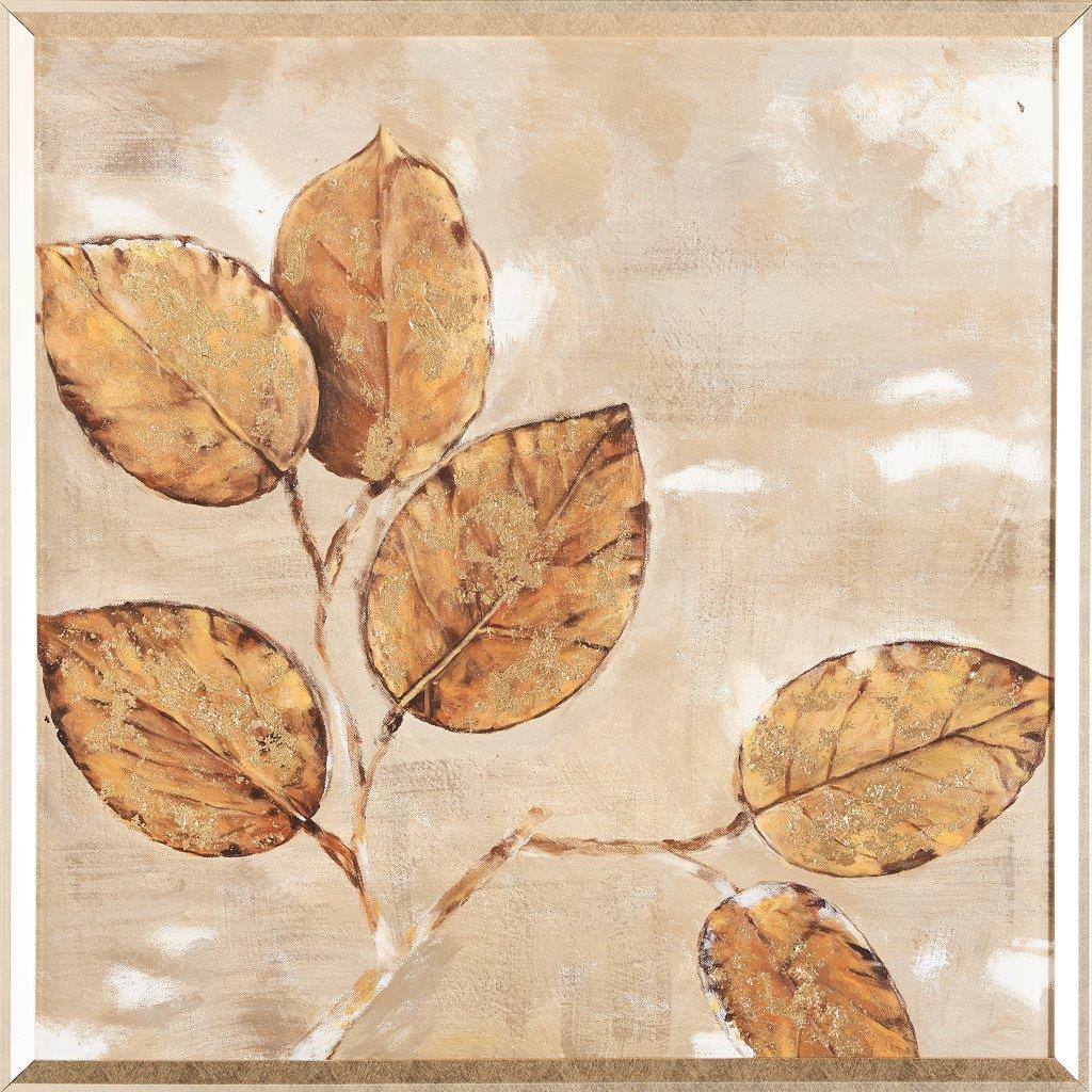 Tranh sơn dầu dát vàng Autumn whisper