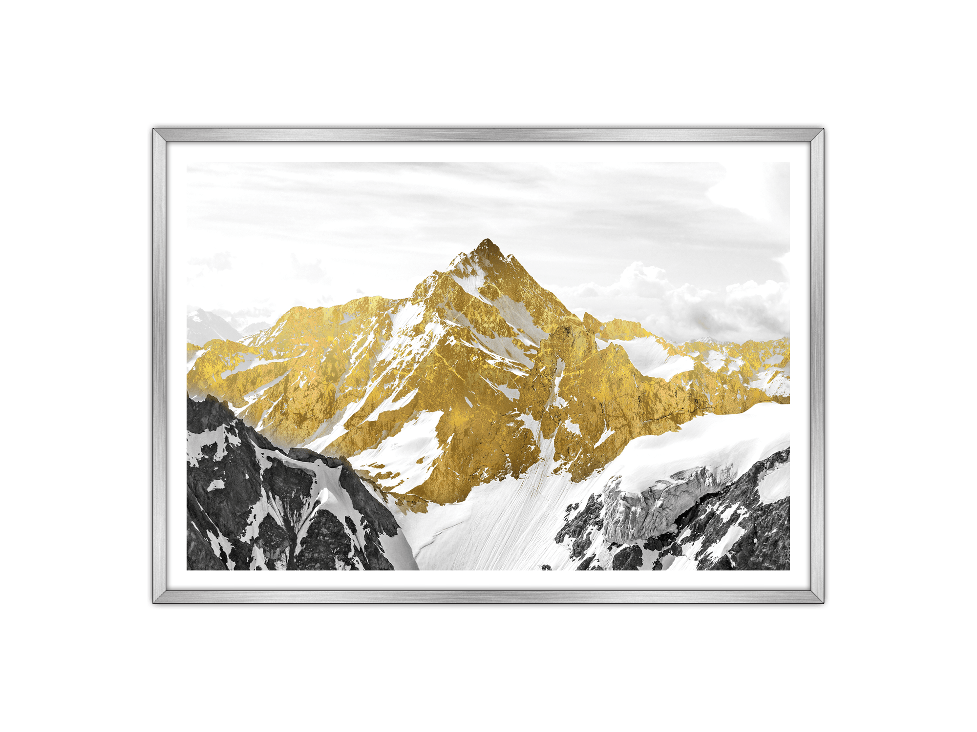 Gold Art Mountain Hill