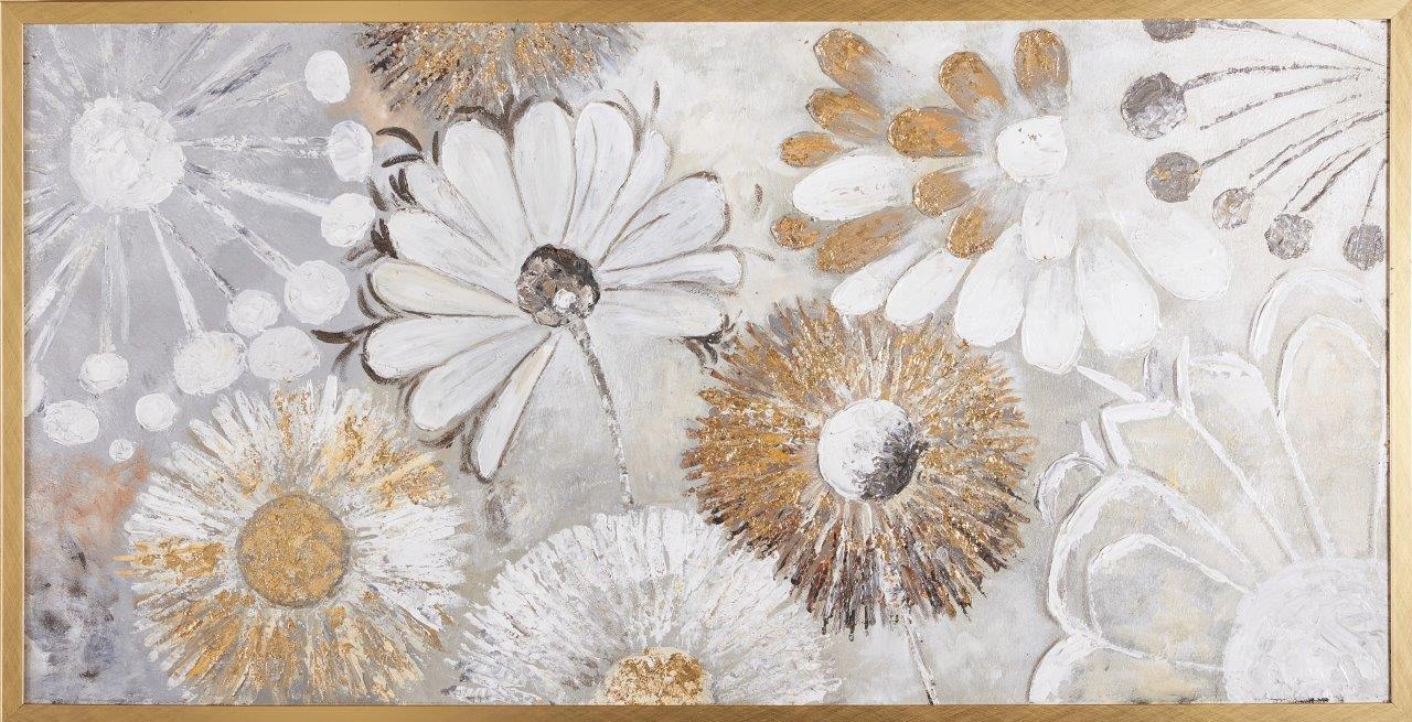 Tranh sơn dầu dát vàng Fragile Flower