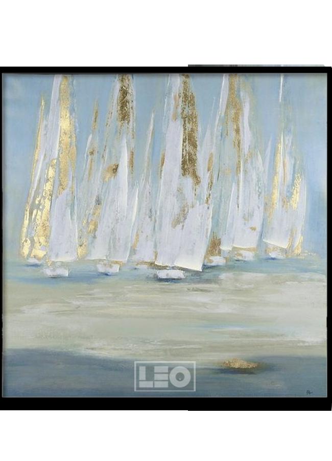 Tranh sơn dầu dát vàng Sail away