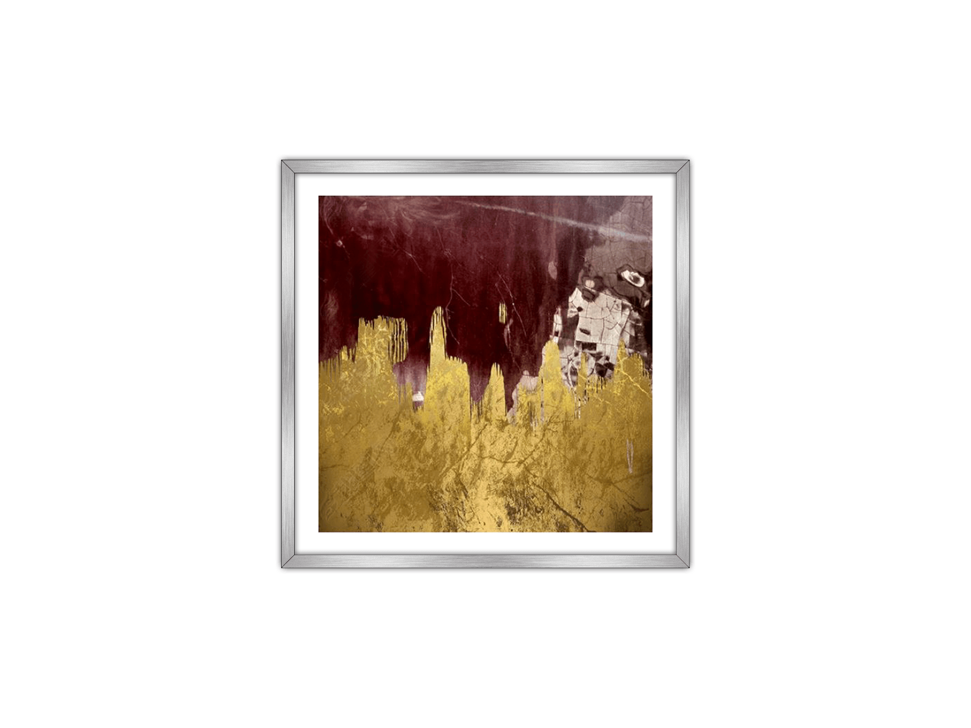 Gold Art Red abstract